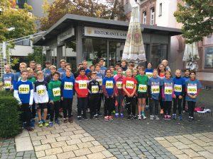 Die Läuferinnen und Läufer der 5 km Strecke